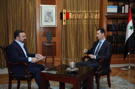 Mr,President Bashar al Assad on Iranian channel 4