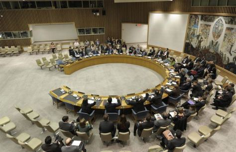 Chapter 7 resolution of the UN Security Council on Syria vetoed by Russia and China
