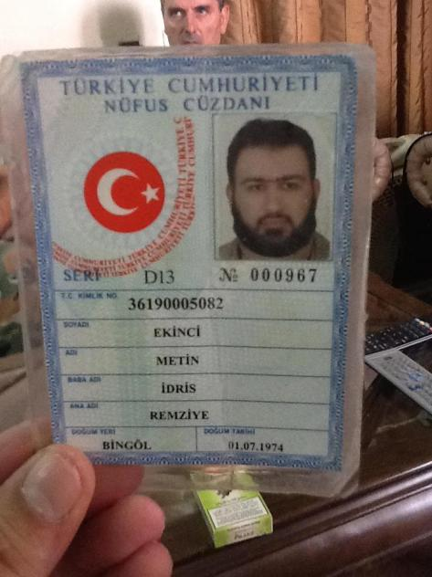 The Turkish terrorist who was killed Aleppo :Idriss Ekinci,the brother al-Qaeda member accused of bombing of the British consulate and HSBC bank in Istanbul in 2003:Azad Ekinci