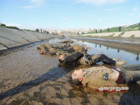 Massacre committed by armed groups in Aleppo, the Syrian Army found 50 bodies dumped in Quwak River