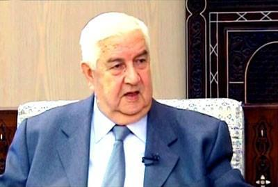 Syria's foreign minister,Al-Moallem: Qatar, Saudi Arabia and Turkey, Led by the United States, Support, Fund and Arm Terrorists in Syria