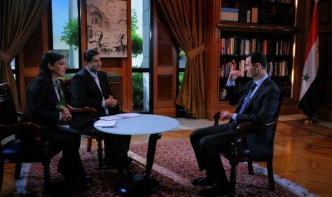The interview of Mr. President Bashar al Assad on AlIkhbaria TV -17 April 2013