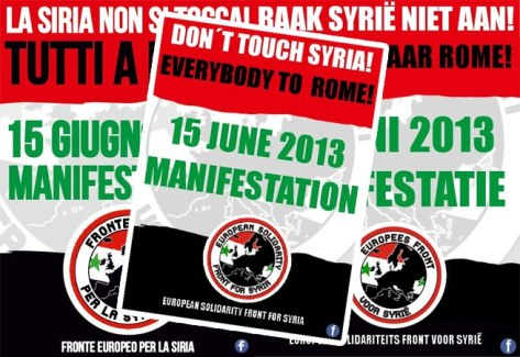 Come and join us to defend Syria!European Solidarity Front for Syria