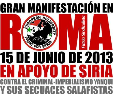 Join us for Syria ,in Rome