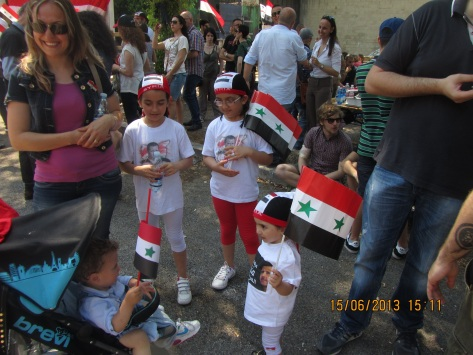 ITALY 15th of June 2013 - real Syrians from all over Europe