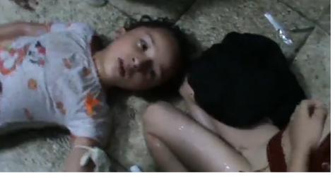 false chemo flag Ghouta