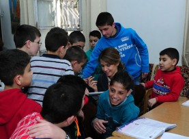 asmaa-visits orphan care centers in Damascus-2