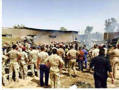 1st Division headquarters at Camp Tariq near Fallujah bombed by USA coalition